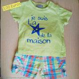 Ensemble short et T-shirt 3 mois