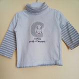 T-shirt à col roulé effet 2 en 1