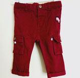 Pantalon rouge foncé