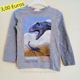 T-shirt manches longues Dinosaures 2/4 ans