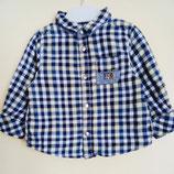 Chemise à petits carreaux 12 mois