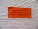 Behelfs-Mundschutz-Maske  - Uni- Orange