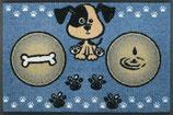 Hundemahlzeit blau