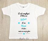 """Tee-shirt personnalisé """"c'est compliqué"""""""