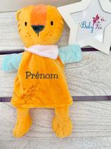 Doudou marionnette personnalisé lion