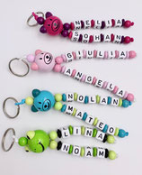Porte-clefs personnalisé 2 prénoms