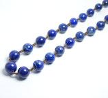 ラピスラズリ[Lapis lazuli] のハンドメイドネックレス  サイズ:直径約8.5mm~ 11.9mm長さ60cm      産地:アフガニスタン[Afganistan]