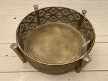 Schale Kerzenhalter für 4 Stabkerzen gold Ornament dia 44,5cm h 15cm