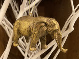 Elefant Hänger Gold 7x12cm