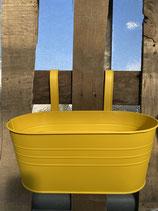 Hängetopf Zink gelb länglich 22x14x24,5cm