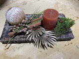 Adventsteller African Xmas mit Kerze 30x15cm