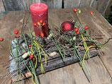 Adventsgesteck  Neue Ziegelei mit Kerze 37x22cm