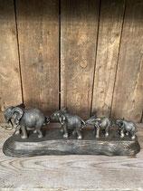 4 Elefanten Länge 45cm - Höhe 15cm