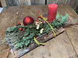 Adventsgesteck  Alte Ziegelei mit Kerze 37x22cm
