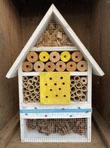 Insektenhotel weiss/gelb