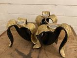 Kerzenständer Banana schwarz / Gold für Stabkerzen