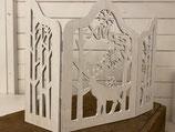 Fensterbild Holz mit X-Mas aufgeklappt 45cm
