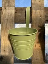 Hängetopf Zink grün dia22x24,5cm