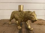 Kerzenständer Tiger Gold für Stabkerzen 19x12cm