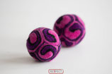 RESPECT©-Kugel  pink - violett - schwarz
