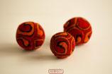 RESPECT©-Kugel rot - orange - schwarz
