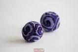 RESPECT©-Kugel  lila- violett - schwarz