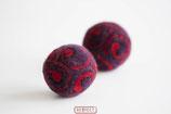 RESPECT©-Kugel  rot - violett - schwarz