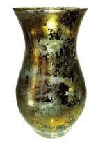 Vase Höhe ca. 24 cm mit antikgold Beschichtung