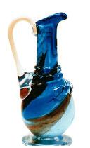 Glaskrug mit Henkel antiker Stil  mundgeblasen Höhe ca. 27 cm in verschiedene Farben