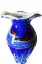 Vase modern verziert bauchig Höhe ca. 15 cm in verschiedenen Farben