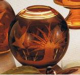 Kugelvase Egermann Amber-Lazur handgeschliffen Durchmesser 12,5 cm