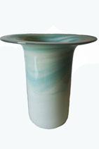 Vase gerade Form mit großer Öffnung mundgeblasen Höhe ca. 20 cm in verschiedenen Farben