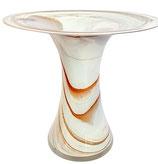 Vase X Form tailiert modern Höhe ca. 23 cm in verschiedenen Farben