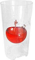 Öllampe mit Windschutz, Windlicht mundgeblasene Öllampe aus klarem Kristallglas, Tischdekoration Höhe ca. 16,5 cm und Durchmesser 7 cm der Korken ist nicht dabei
