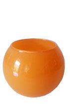 Kugelvase orange Durchmesser ca. 8 cm