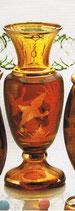 Vase Egermann Amber-Lazur handgeschliffen, Höhe ca. 25,5 cm