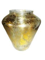 Vase antigold Höhe ca 17 cm