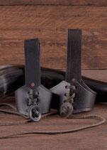 Hornhalter aus Leder heimische Produktion