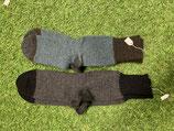 Socken Grau / Braun, 2-Farbig