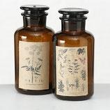 Nostalgie Chemieflasche 1100 mL braun mit Stopfen Weithals Chemikalien Glas Vintage Apothekenflasche
