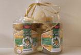Geschenkset Honig Bienenkorb und Teelichtern
