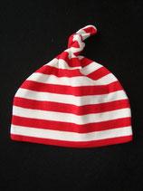Mütze rot-weiss gestreift Einheitsgrösse