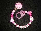 """Nuggikette Stil """"Sarina"""" Sterne pink"""