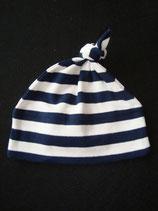 Mütze dunkelblau-weiss gestreift Einheitsgrösse