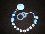 """Nuggikette Stil """"Luusbueb"""" Auto blau"""