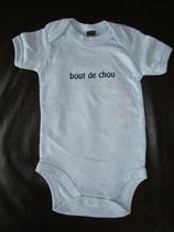 """Body bedruckt """"bout de chou"""" hellblau-blau 3-6 Monate"""