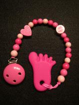 Beisskette Fuss pink