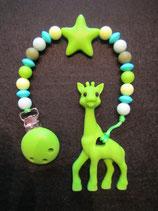 Beisskette Giraffe apfelgrün