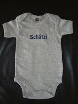 "Body bedruckt ""Schätzi"" grau-blau Grösse 3-6 Monate"