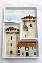 vassoio torre doppio2  cm 15 x 23